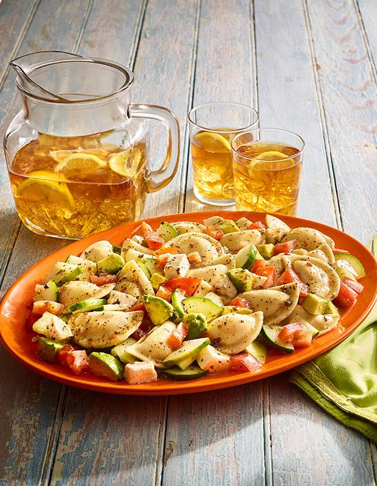 Italian Summer Mini Pierogy Salad