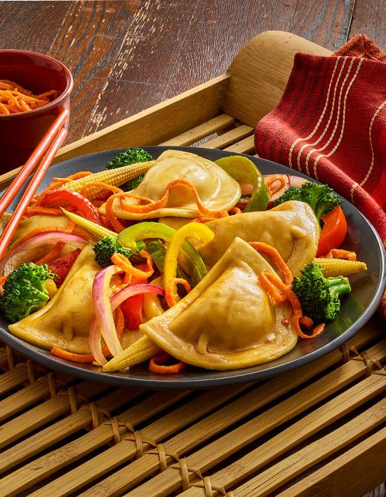 Asian Pierogy Stir Fry