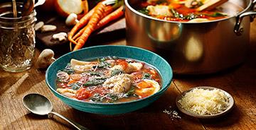 Tuscan Garden Pierogy Soup