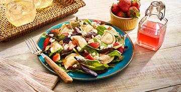 Strawberry Bacon Mini Pierogy Salad