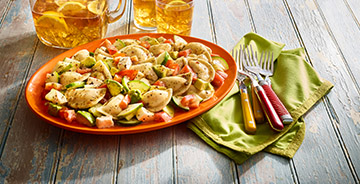 Italian Summer Mini Pierogy Salad
