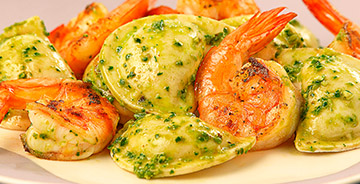 Fresh Cilantro Shrimp & Pesto Pierogies