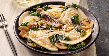 Baby Spinach and Mushroom Pierogies